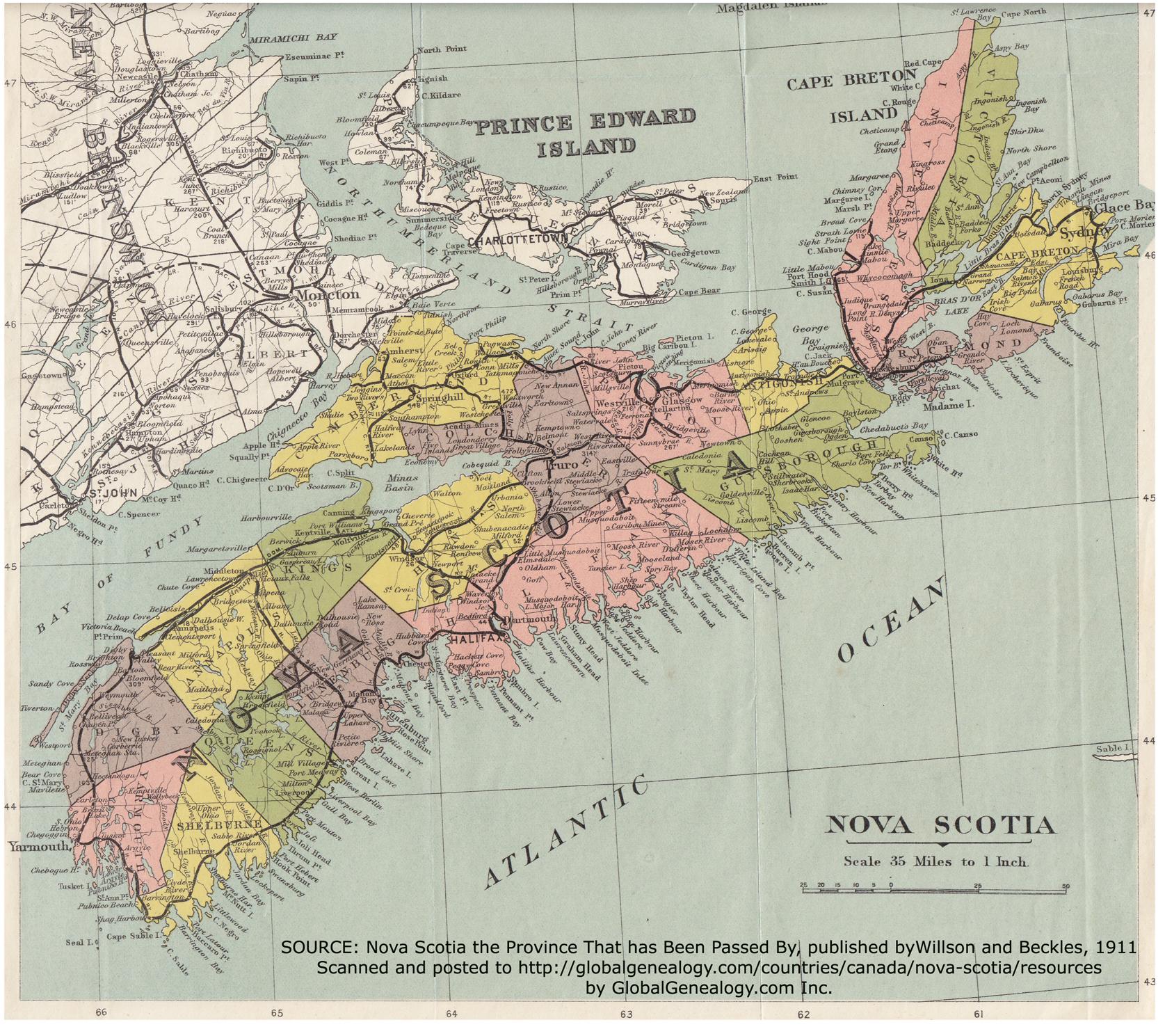 Map Of Canada Nova Scotia.Resources Nova Scotia Canada History And Genealogy Books