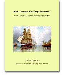The Lanark Society Settlers: Ships' Lists of the Glasgow Emigration Society 1821
