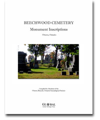 BOOK - Beechwood Cemetery Burial Records, Monument Inscriptions and