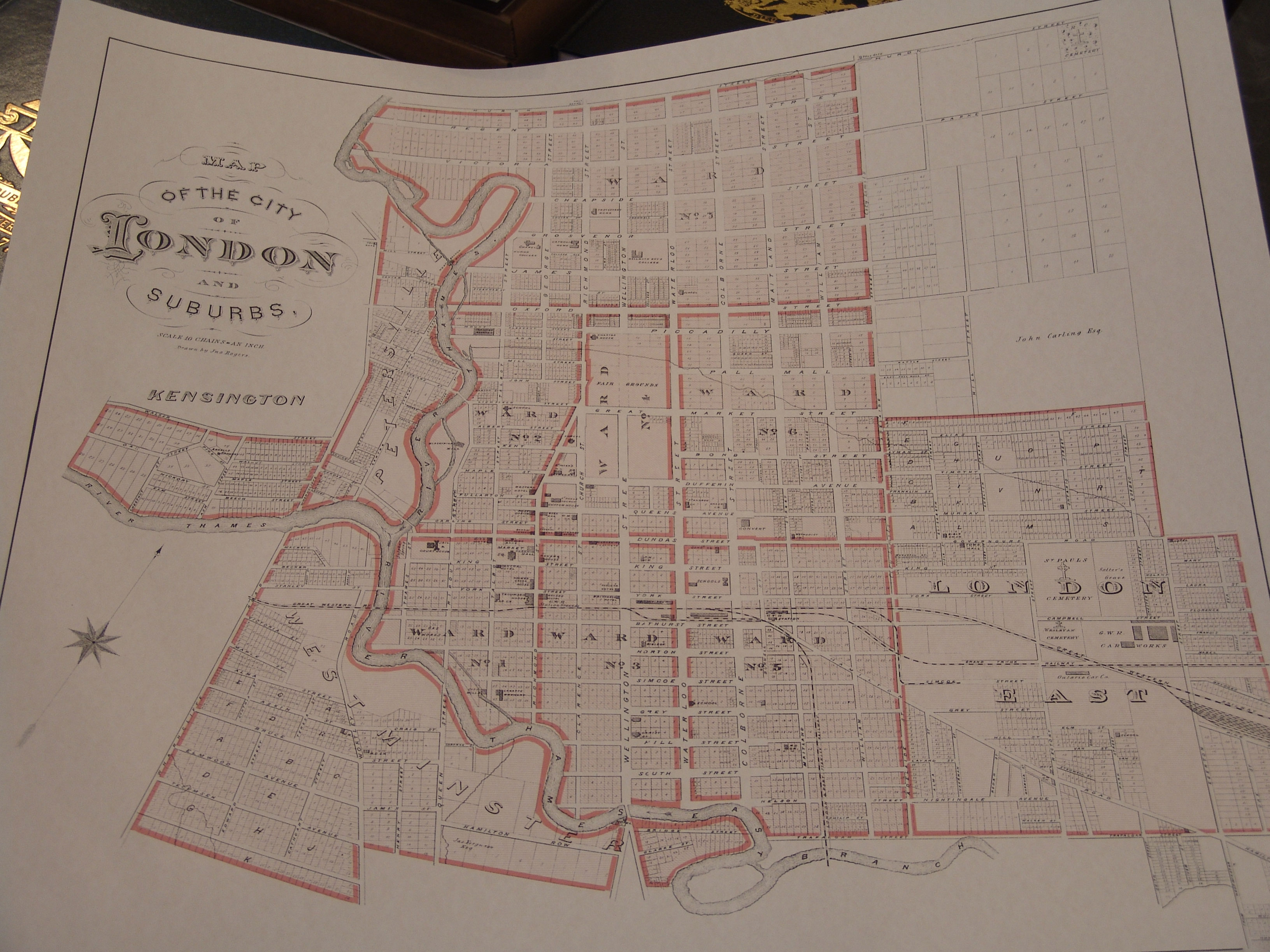MAP City of London Ontario 1878
