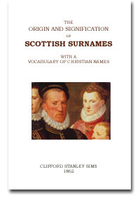 BOOK - The Origin and Signification of Scottish Surnames